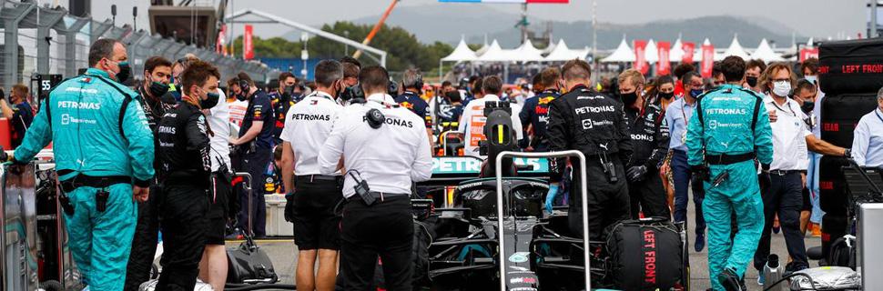Lewis Hamilton (GBR) Mercedes AMG F1 W12 on the grid. 20.06.2021. Formula 1 World Championship, Rd 7, French Grand Prix, Paul Ricard