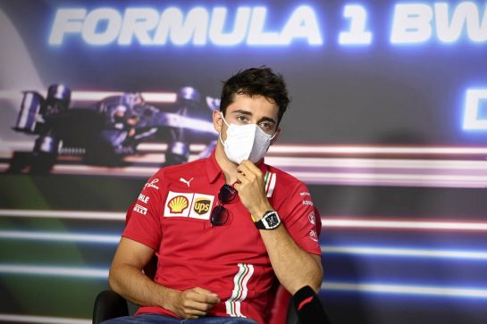 Charles Leclerc (MON) Ferrari in the FIA Press Conference. 24.06.2021. Formula 1 World Championship, Rd 8, Steiermark Grand Prix, Spielberg, Austria, Preparation Day. - www.xpbimages.com, EMail: requests@xpbimages.com © Copyright: FIA Pool Image for Editorial Use Only