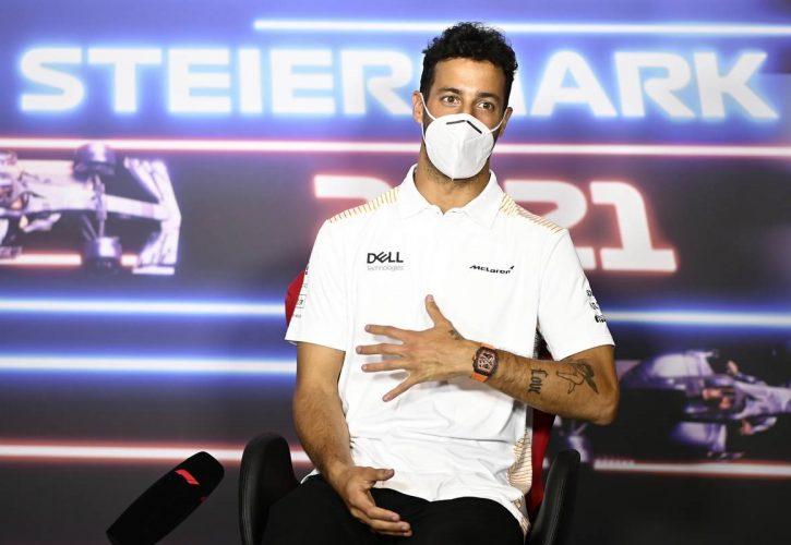 Daniel Ricciardo (AUS) McLaren in the FIA Press Conference. 24.06.2021. Formula 1 World Championship, Rd 8, Steiermark Grand Prix, Spielberg