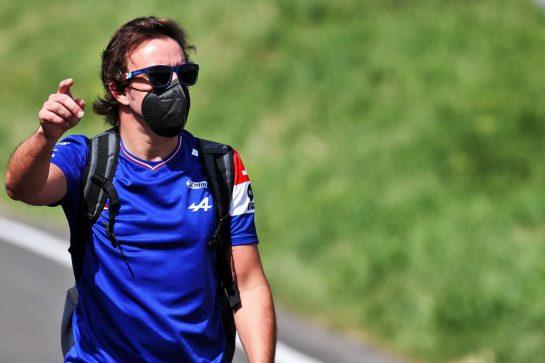 Fernando Alonso (ESP) Alpine F1 Team. 25.06.2021. Formula 1 World Championship, Rd 8, Steiermark Grand Prix, Spielberg, Austria, Practice Day. - www.xpbimages.com, EMail: requests@xpbimages.com © Copyright: Batchelor / XPB Images