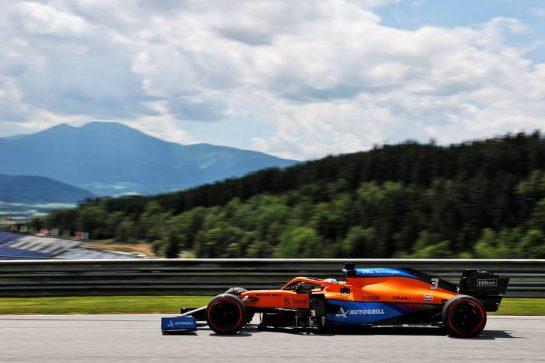 Daniel Ricciardo (AUS) McLaren MCL35M. 25.06.2021. Formula 1 World Championship, Rd 8, Steiermark Grand Prix, Spielberg, Austria, Practice Day. - www.xpbimages.com, EMail: requests@xpbimages.com © Copyright: Batchelor / XPB Images