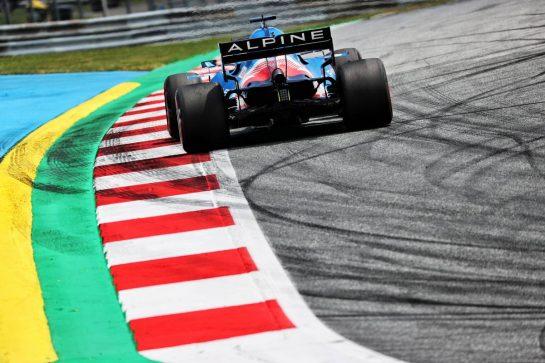 Fernando Alonso (ESP) Alpine F1 Team A521. 25.06.2021. Formula 1 World Championship, Rd 8, Steiermark Grand Prix, Spielberg, Austria, Practice Day. - www.xpbimages.com, EMail: requests@xpbimages.com © Copyright: Batchelor / XPB Images