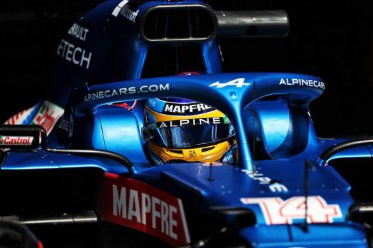 Fernando Alonso (ESP) Alpine F1 Team A521. 25.06.2021. Formula 1 World Championship, Rd 8, Steiermark Grand Prix, Spielberg, Austria, Practice Day. - www.xpbimages.com, EMail: requests@xpbimages.com © Copyright: Moy / XPB Images