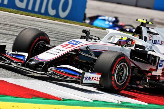 Mick Schumacher (GER) Haas VF-21. 25.06.2021. Formula 1 World Championship, Rd 8, Steiermark Grand Prix, Spielberg, Austria, Practice Day. - www.xpbimages.com, EMail: requests@xpbimages.com © Copyright: Batchelor / XPB Images
