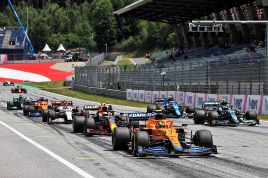 Lando Norris (GBR) McLaren MCL35M. 25.06.2021. Formula 1 World Championship, Rd 8, Steiermark Grand Prix, Spielberg, Austria, Practice Day. - www.xpbimages.com, EMail: requests@xpbimages.com © Copyright: Moy / XPB Images