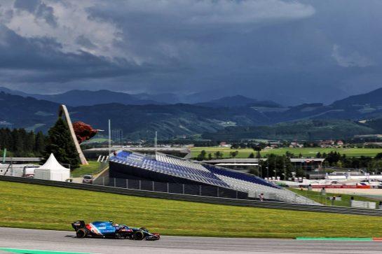 Esteban Ocon (FRA) Alpine F1 Team A521. 25.06.2021. Formula 1 World Championship, Rd 8, Steiermark Grand Prix, Spielberg, Austria, Practice Day. - www.xpbimages.com, EMail: requests@xpbimages.com © Copyright: Batchelor / XPB Images