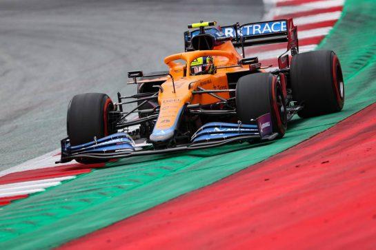Lando Norris (GBR), McLaren F1 Team 25.06.2021. Formula 1 World Championship, Rd 8, Steiermark Grand Prix, Spielberg, Austria, Practice Day.- www.xpbimages.com, EMail: requests@xpbimages.com © Copyright: Charniaux / XPB Images