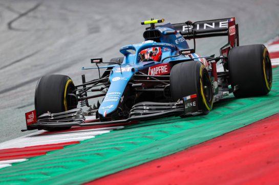 Esteban Ocon (FRA), Alpine F1 Team 25.06.2021. Formula 1 World Championship, Rd 8, Steiermark Grand Prix, Spielberg, Austria, Practice Day.- www.xpbimages.com, EMail: requests@xpbimages.com © Copyright: Charniaux / XPB Images