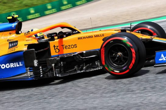 Lando Norris (GBR) McLaren MCL35M. 25.06.2021. Formula 1 World Championship, Rd 8, Steiermark Grand Prix, Spielberg, Austria, Practice Day. - www.xpbimages.com, EMail: requests@xpbimages.com © Copyright: Batchelor / XPB Images