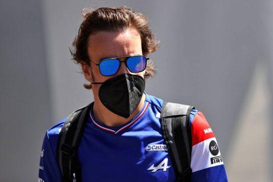 Fernando Alonso (ESP) Alpine F1 Team. 26.06.2021. Formula 1 World Championship, Rd 8, Steiermark Grand Prix, Spielberg, Austria, Qualifying Day. - www.xpbimages.com, EMail: requests@xpbimages.com © Copyright: Moy / XPB Images