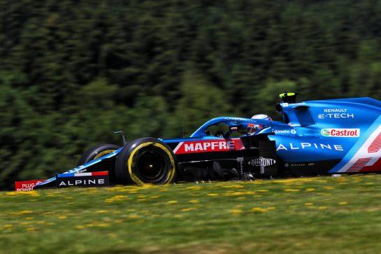 Esteban Ocon (FRA) Alpine F1 Team A521. 26.06.2021. Formula 1 World Championship, Rd 8, Steiermark Grand Prix, Spielberg, Austria, Qualifying Day. - www.xpbimages.com, EMail: requests@xpbimages.com © Copyright: Batchelor / XPB Images