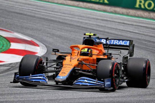 Lando Norris (GBR) McLaren MCL35M. 26.06.2021. Formula 1 World Championship, Rd 8, Steiermark Grand Prix, Spielberg, Austria, Qualifying Day. - www.xpbimages.com, EMail: requests@xpbimages.com © Copyright: Batchelor / XPB Images