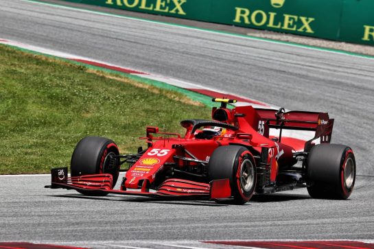 Carlos Sainz Jr (ESP) Ferrari SF-21. 26.06.2021. Formula 1 World Championship, Rd 8, Steiermark Grand Prix, Spielberg, Austria, Qualifying Day. - www.xpbimages.com, EMail: requests@xpbimages.com © Copyright: Batchelor / XPB Images