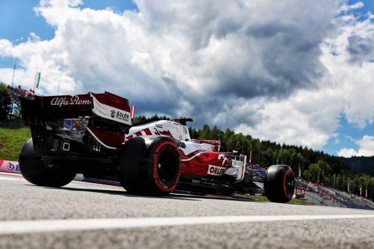 Kimi Raikkonen (FIN) Alfa Romeo Racing C41. 26.06.2021. Formula 1 World Championship, Rd 8, Steiermark Grand Prix, Spielberg, Austria, Qualifying Day. - www.xpbimages.com, EMail: requests@xpbimages.com © Copyright: Batchelor / XPB Images