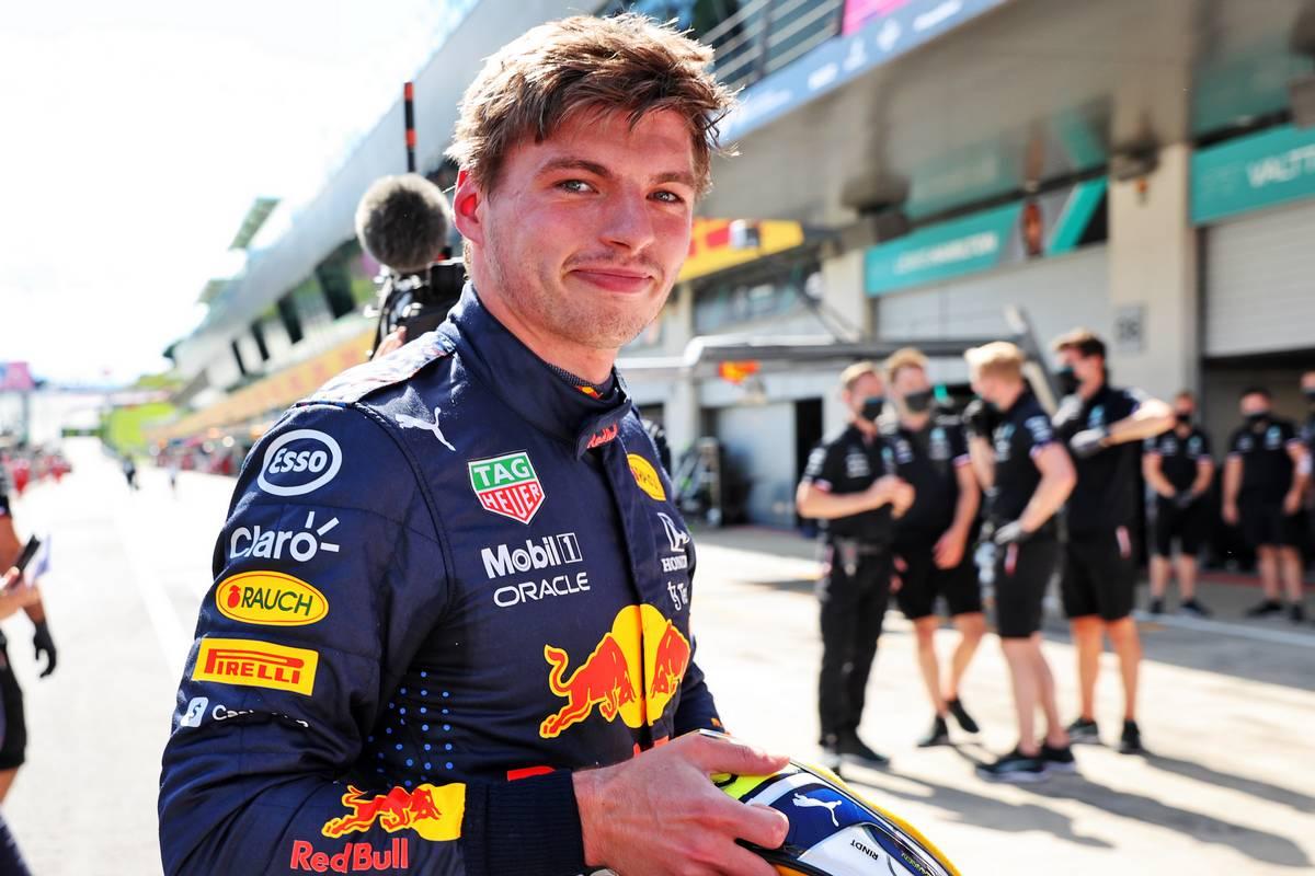 Pole sitter Max Verstappen (NLD) Red Bull Racing in qualifying parc ferme. 26.06.2021. Formula 1 World Championship, Rd 8, Steiermark Grand Prix, Spielberg