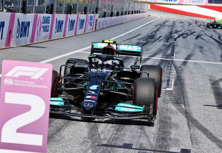Second fastest Valtteri Bottas (FIN) Mercedes AMG F1 W12 in qualifying parc ferme. 26.06.2021. Formula 1 World Championship, Rd 8, Steiermark Grand Prix, Spielberg