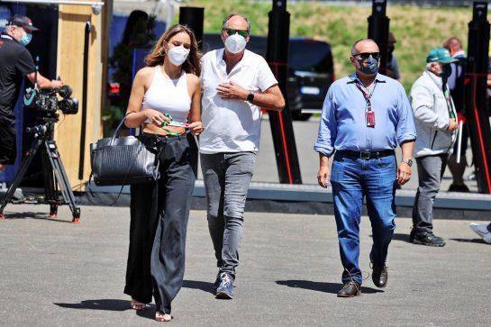 Gerhard Berger (AUT) and Crown Prince Shaikh Salman bin Isa Hamad Al Khalifa (BRN). 27.06.2021. Formula 1 World Championship, Rd 8, Steiermark Grand Prix, Spielberg, Austria, Race Day. - www.xpbimages.com, EMail: requests@xpbimages.com © Copyright: Moy / XPB Images