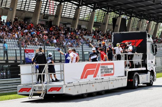 Drivers parade. 27.06.2021. Formula 1 World Championship, Rd 8, Steiermark Grand Prix, Spielberg, Austria, Race Day. - www.xpbimages.com, EMail: requests@xpbimages.com © Copyright: Moy / XPB Images