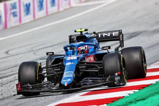 Esteban Ocon (FRA) Alpine F1 Team A521. 27.06.2021. Formula 1 World Championship, Rd 8, Steiermark Grand Prix, Spielberg, Austria, Race Day. - www.xpbimages.com, EMail: requests@xpbimages.com © Copyright: Charniaux / XPB Images