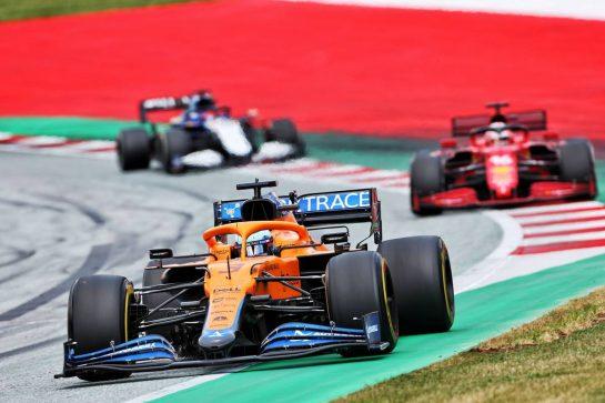 Daniel Ricciardo (AUS) McLaren MCL35M. 27.06.2021. Formula 1 World Championship, Rd 8, Steiermark Grand Prix, Spielberg, Austria, Race Day. - www.xpbimages.com, EMail: requests@xpbimages.com © Copyright: Charniaux / XPB Images