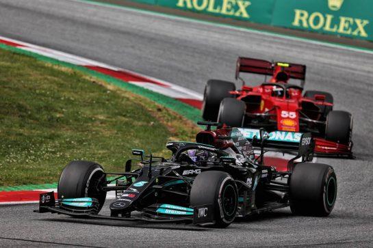 Lewis Hamilton (GBR) Mercedes AMG F1 W12. 27.06.2021. Formula 1 World Championship, Rd 8, Steiermark Grand Prix, Spielberg, Austria, Race Day. - www.xpbimages.com, EMail: requests@xpbimages.com © Copyright: Batchelor / XPB Images