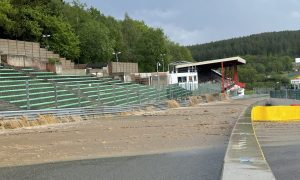 A massive overflow of Eau Rouge at Spa-Francorchamps