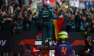 'Over the moon' Vettel didn't expect podium in Baku