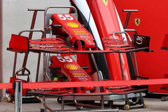 Ferrari SF-21 front wings. 01.07.2021. Formula 1 World Championship, Rd 9, Austrian Grand Prix, Spielberg, Austria, Preparation Day. - www.xpbimages.com, EMail: requests@xpbimages.com © Copyright: Batchelor / XPB Images