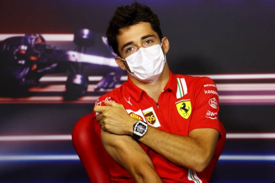 Charles Leclerc (MON) Ferrari in the FIA Press Conference. 01.07.2021. Formula 1 World Championship, Rd 9, Austrian Grand Prix, Spielberg, Austria, Preparation Day. - www.xpbimages.com, EMail: requests@xpbimages.com © Copyright: FIA Pool Image for Editorial Use Only