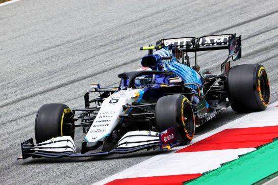 Nicholas Latifi (CDN) Williams Racing FW43B. 02.07.2021. Formula 1 World Championship, Rd 9, Austrian Grand Prix, Spielberg, Austria, Practice Day. - www.xpbimages.com, EMail: requests@xpbimages.com © Copyright: Charniaux / XPB Images
