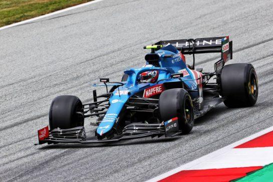 Esteban Ocon (FRA) Alpine F1 Team A521. 02.07.2021. Formula 1 World Championship, Rd 9, Austrian Grand Prix, Spielberg, Austria, Practice Day. - www.xpbimages.com, EMail: requests@xpbimages.com © Copyright: Charniaux / XPB Images