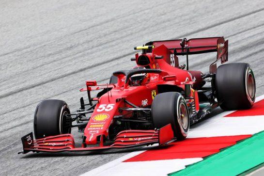 Carlos Sainz Jr (ESP) Ferrari SF-21. 02.07.2021. Formula 1 World Championship, Rd 9, Austrian Grand Prix, Spielberg, Austria, Practice Day. - www.xpbimages.com, EMail: requests@xpbimages.com © Copyright: Charniaux / XPB Images