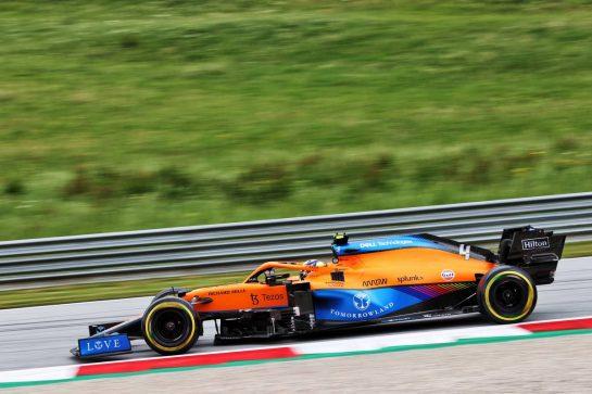 Lando Norris (GBR) McLaren MCL35M. 02.07.2021. Formula 1 World Championship, Rd 9, Austrian Grand Prix, Spielberg, Austria, Practice Day. - www.xpbimages.com, EMail: requests@xpbimages.com © Copyright: Charniaux / XPB Images