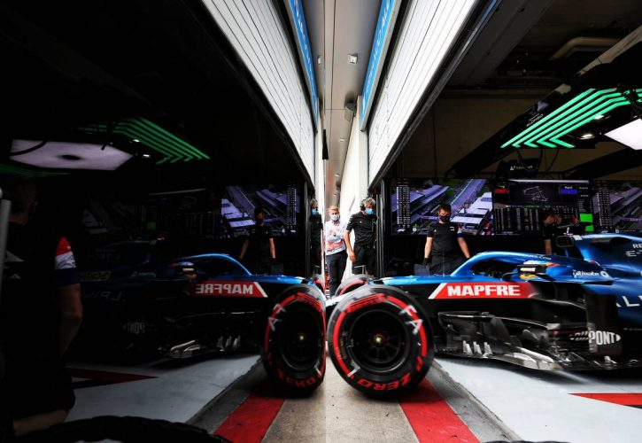 Fernando Alonso (ESP) Alpine F1 Team A521 leaves the pits. 02.07.2021. Formula 1 World Championship, Rd 9, Austrian Grand Prix, Spielberg