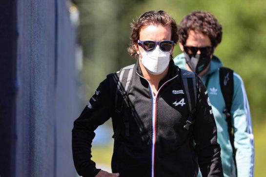Fernando Alonso (ESP), Alpine F1 Team 03.07.2021. Formula 1 World Championship, Rd 9, Austrian Grand Prix, Spielberg, Austria, Qualifying Day.- www.xpbimages.com, EMail: requests@xpbimages.com © Copyright: Charniaux / XPB Images