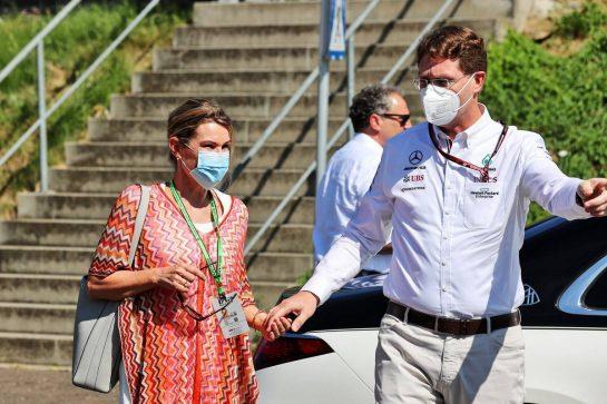 Sabine Kaellenius (GER), wife of Ola Kaellenius, Daimer CEO.  03.07.2021. Formula 1 World Championship, Rd 9, Austrian Grand Prix, Spielberg, Austria, Qualifying Day. - www.xpbimages.com, EMail: requests@xpbimages.com © Copyright: Batchelor / XPB Images