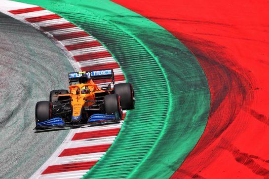 Lando Norris (GBR) McLaren MCL35M. 03.07.2021. Formula 1 World Championship, Rd 9, Austrian Grand Prix, Spielberg, Austria, Qualifying Day. - www.xpbimages.com, EMail: requests@xpbimages.com © Copyright: Charniaux / XPB Images