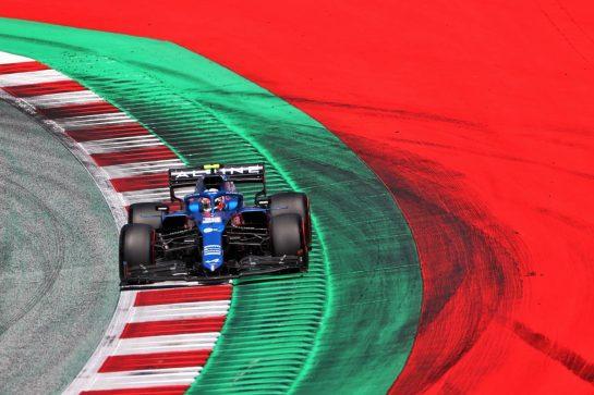 Esteban Ocon (FRA) Alpine F1 Team A521. 03.07.2021. Formula 1 World Championship, Rd 9, Austrian Grand Prix, Spielberg, Austria, Qualifying Day. - www.xpbimages.com, EMail: requests@xpbimages.com © Copyright: Charniaux / XPB Images