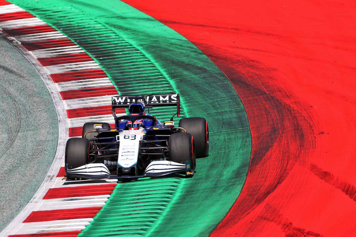 George Russell (GBR) Williams Racing FW43B. 03.07.2021. Formula 1 World Championship, Rd 9, Austrian Grand Prix, Spielberg