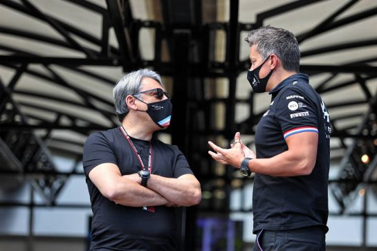 Groupe Renault CEO Luca de Meo with Marcin Budkowski