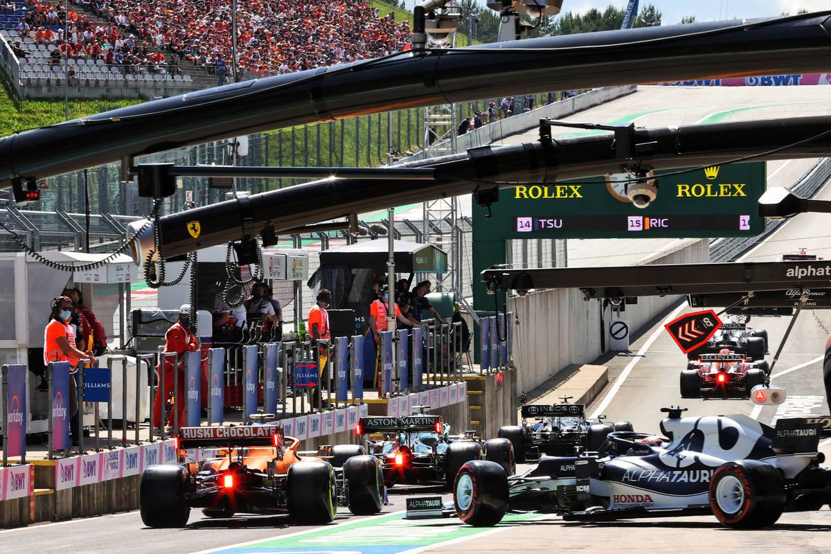 Yuki Tsunoda (JPN) AlphaTauri AT02 leaves the pits. 03.07.2021. Formula 1 World Championship, Rd 9, Austrian Grand Prix, Spielberg