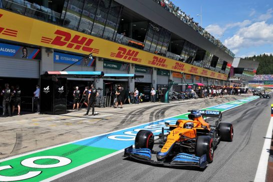 Daniel Ricciardo (AUS) McLaren MCL35M. 03.07.2021. Formula 1 World Championship, Rd 9, Austrian Grand Prix, Spielberg, Austria, Qualifying Day. - www.xpbimages.com, EMail: requests@xpbimages.com © Copyright: Moy / XPB Images