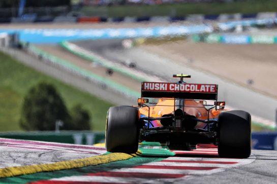 Lando Norris (GBR) McLaren MCL35M. 03.07.2021. Formula 1 World Championship, Rd 9, Austrian Grand Prix, Spielberg, Austria, Qualifying Day. - www.xpbimages.com, EMail: requests@xpbimages.com © Copyright: Batchelor / XPB Images