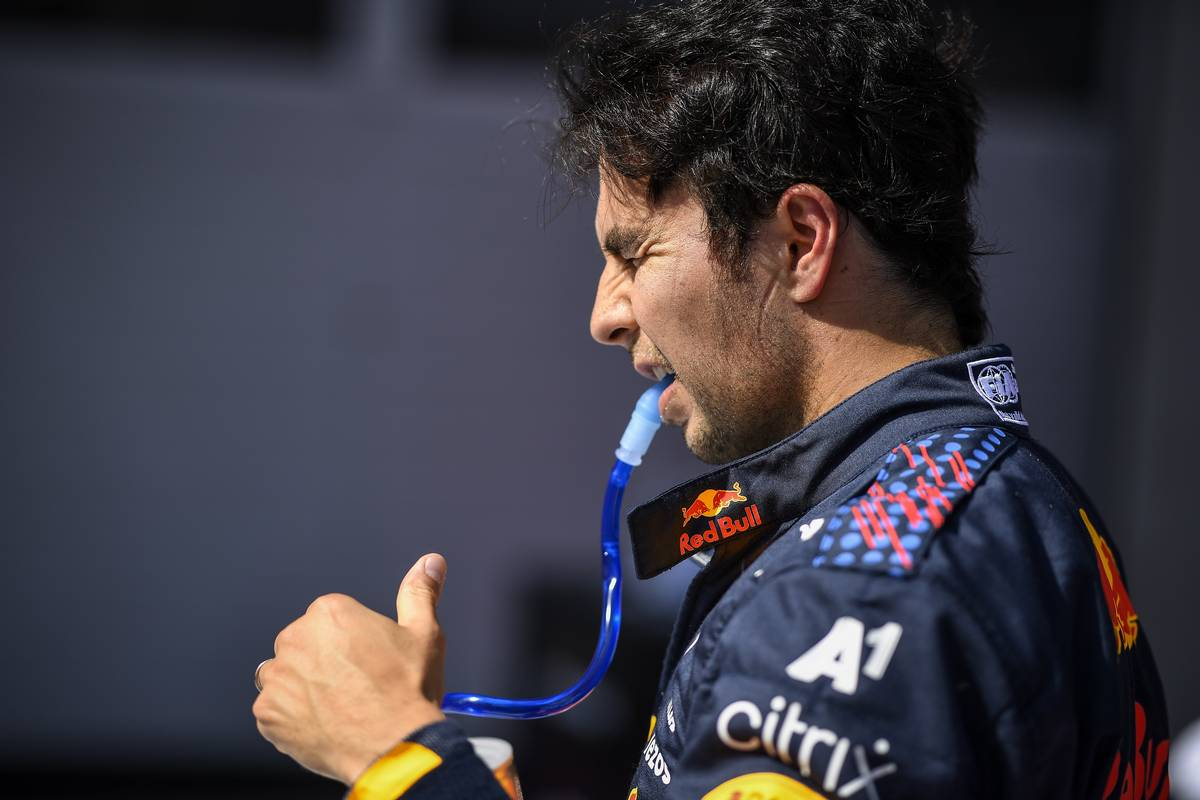 Third placed Sergio Perez (MEX) Red Bull Racing in qualifying parc ferme. 03.07.2021. Formula 1 World Championship, Rd 9, Austrian Grand Prix, Spielberg