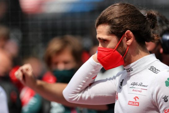 Antonio Giovinazzi (ITA) Alfa Romeo Racing on the grid. 04.07.2021. Formula 1 World Championship, Rd 9, Austrian Grand Prix, Spielberg, Austria, Race Day. - www.xpbimages.com, EMail: requests@xpbimages.com © Copyright: Charniaux / XPB Images