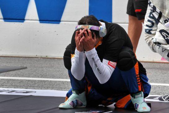 Daniel Ricciardo (AUS) McLaren on the grid. 04.07.2021. Formula 1 World Championship, Rd 9, Austrian Grand Prix, Spielberg, Austria, Race Day. - www.xpbimages.com, EMail: requests@xpbimages.com © Copyright: Batchelor / XPB Images