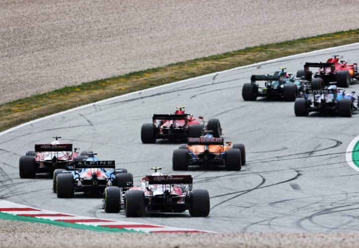 Antonio Giovinazzi (ITA) Alfa Romeo Racing C41 at the start of the race. 04.07.2021. Formula 1 World Championship, Rd 9, Austrian Grand Prix, Spielberg