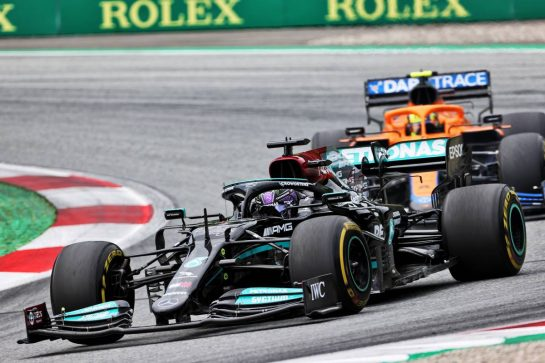 Lewis Hamilton (GBR) Mercedes AMG F1 W12. 04.07.2021. Formula 1 World Championship, Rd 9, Austrian Grand Prix, Spielberg, Austria, Race Day. - www.xpbimages.com, EMail: requests@xpbimages.com © Copyright: Charniaux / XPB Images