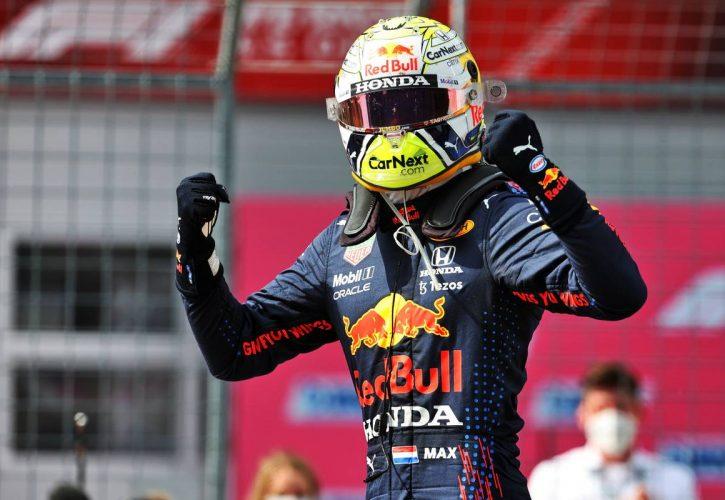 Race winner Max Verstappen (NLD) Red Bull Racing celebrates in parc ferme. 04.07.2021. Formula 1 World Championship, Rd 9, Austrian Grand Prix, Spielberg