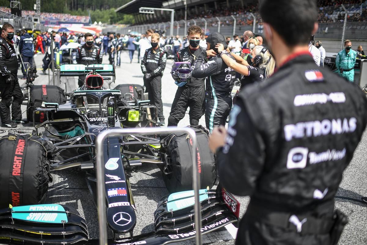 Lewis Hamilton (GBR) Mercedes AMG F1 W12 on the grid. 04.07.2021. Formula 1 World Championship, Rd 9, Austrian Grand Prix, Spielberg